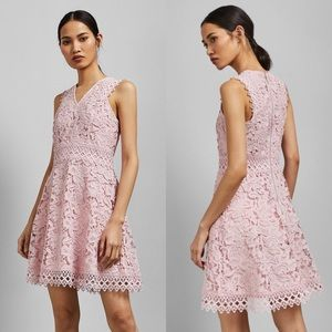 Ted Baker Beniel Fit & Flare Lace Dress